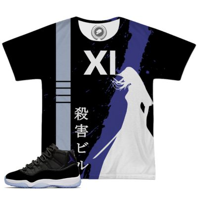 Space Jam 11 X Kill Bill All Over Print T-Shirt | Black