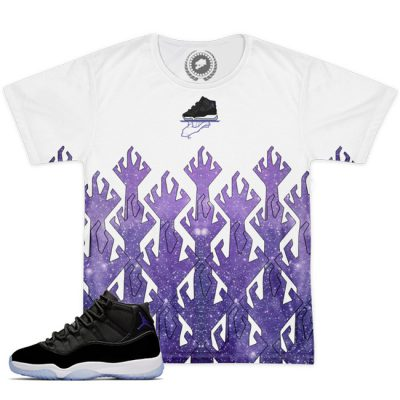 Space Jam 11 Match T-Shirt | Hungry Space Hands White