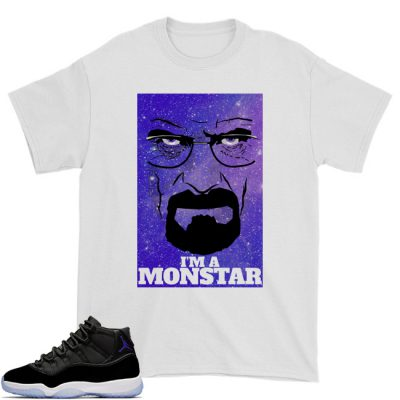 Space Jam 11 Match T-Shirt | I'm A Space Monstar White