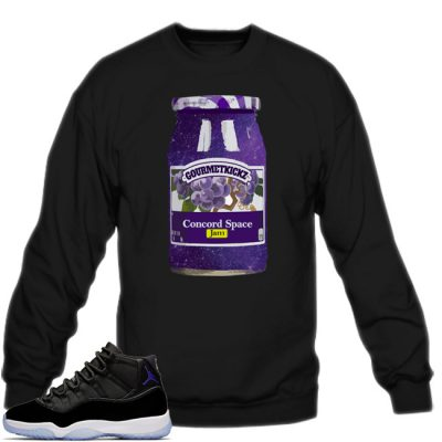 Space Jam 11 Match Sweatshirt | GourmetKickz Space Jam Black