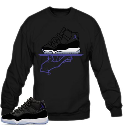 Space Jam 11 Match Sweatshirt | Now Serving Mas Space Jams Black