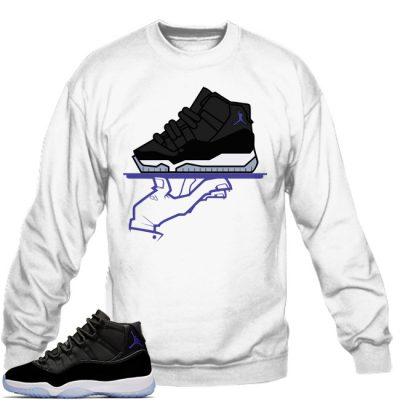 Space Jam 11 Match Sweatshirt | Now Serving Mas Space Jams White