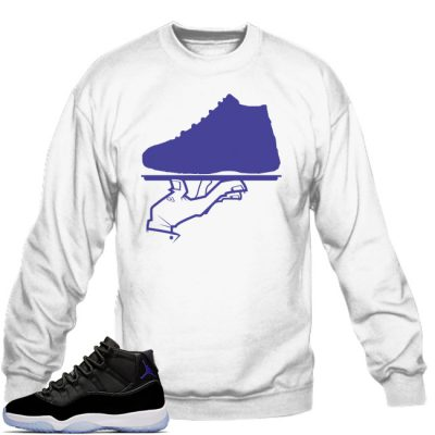 Space Jam 11 Match Sweatshirt | Now Serving White