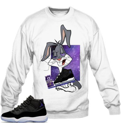 Space Jam 11 Match Sweatshirt | Spaced Out White