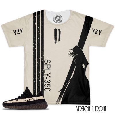 Yeezy Boost 350 V2 Blk/White Match T-Shirt 3 Different Designs