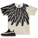Yeezy Boost 350 V2 Blk/White Match Winged T-Shirt | 2 Colors