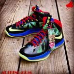 Custom LeBron X (10) &quot;SuperMan VS. Kryptonite&quot; by GourmetKickz