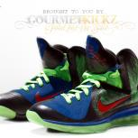 Custom &quot;Superman&quot; LeBron 9 by GourmetKickz | &quot;DunkMan of Steel&quot; AKA &quot;KryptoNine&quot; AKA &quot;DBron 4&quot;