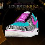 Custom &quot;FreeBeach&quot; AKA South Beach x Freegums AF1 Low by GourmetKickz