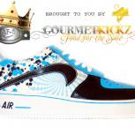 "Custom ""HypnoBlues"" Nike Air Force 1 by GourmetKickz"