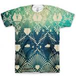"""The """"Distressed Damask"""" All Over Print Logo T-Shirt by GourmetKickz"""