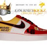 Custom Miami Heat Lebron James Edition Nike Air Force 1 by GourmetKickz