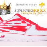 Custom SunForce Solar Red Nike Air Force 1 by GourmetKickz