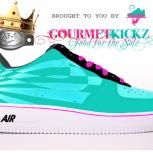 Custom SunForce South Beach Nike Air Force 1 by GourmetKickz