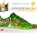 Custom Hannah Stouffer + Gold Air Force 1 by GourmetKickz x 1800 Tequila