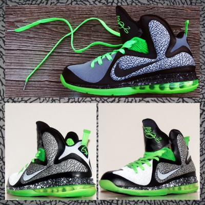 "Custom 112 LeBron 9 by GourmetKickz | ""Dunkin In Brooklyn"""