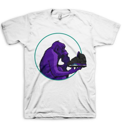 Grape Ape Ponders Grape | Black Grape Jordan V (5) Hook Up T-Shirt by GourmetKickz