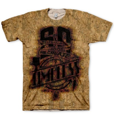 "Mas for GourmetKickz ""Timeless Piece"" Branded Cork All Over Print LeBron X Cork Hook-up T-Shirt"