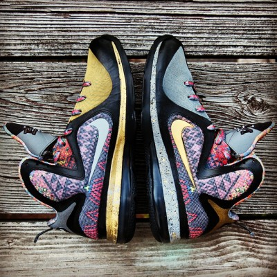 "Custom ""Watch The Poem"" LeBron 9 AKA ""Invictus"" BHM Tribute by GourmetKickz"