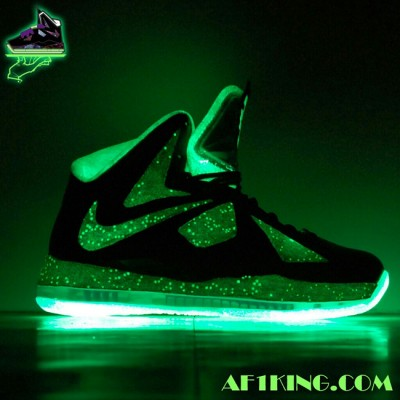"Custom LeBron X (10) ""King of Galaxy X"" by GourmetKickz"