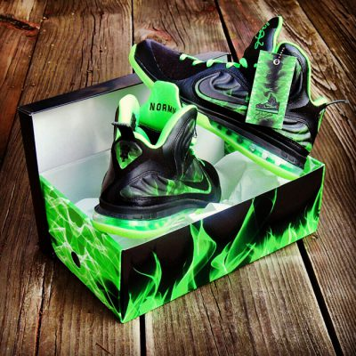 "Custom LeBron 9 ""ParaNorman"" Foamposite by GourmetKickz"