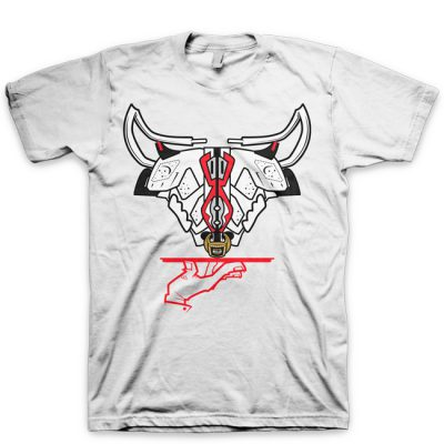 Now Serving The Horns Jordan 6 White/ Infrared T-Shirt