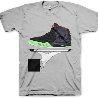 Signature GourmetKickz Deluxe Now Serving  Air Yeezy II (2) Black / Solar Red T-Shirt