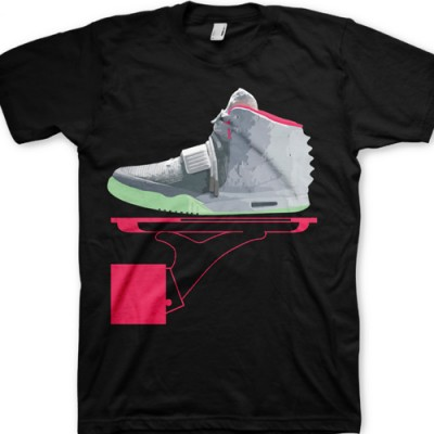 Signature GourmetKickz Deluxe Now Serving Air Yeezy II (2) Wolf Grey/ Pure Platinum T-Shirt