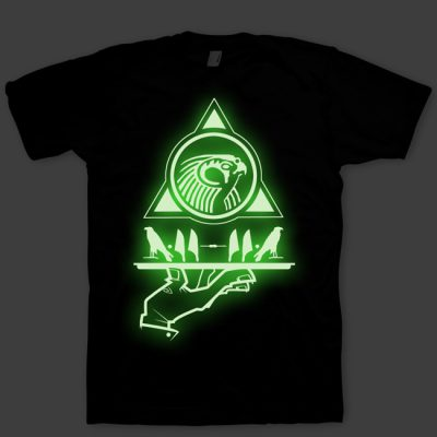 Signature Now Serving Horus Glow in the Dark T-Shirt by GourmetKickz