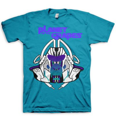 Signature MASk Jordan 5 Grape Full Color T-Shirt | Planet of the Grapes