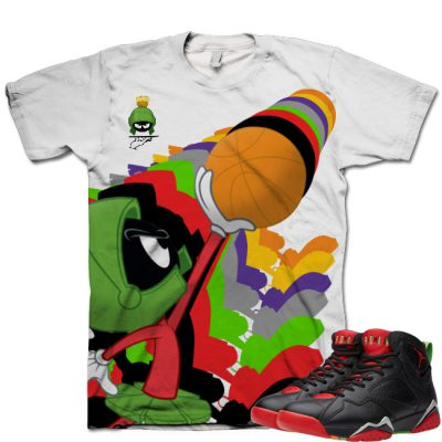 Jordan 7 Marvin The Martian T-Shirt | Infinity Marv