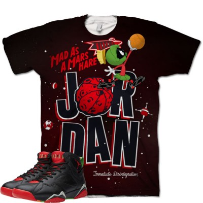 Jordan 7 Marvin The Martian Shirt V2 by GourmetKickz