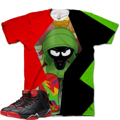 Jordan 7 Marvin The Martian Shirt V5 by GourmetKickz