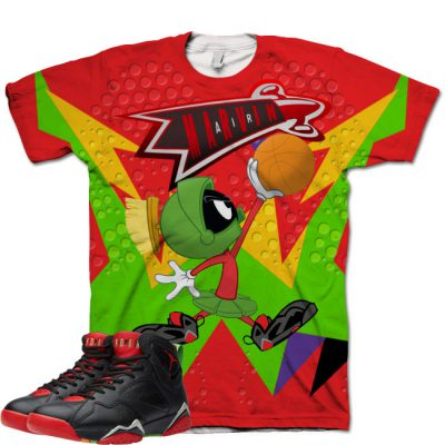 Jordan 7 Marvin The Martian Shirt V7 by GourmetKickz