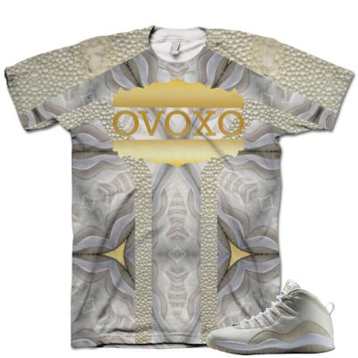 Nike Air Jordan 10 White OVO Shirt V2