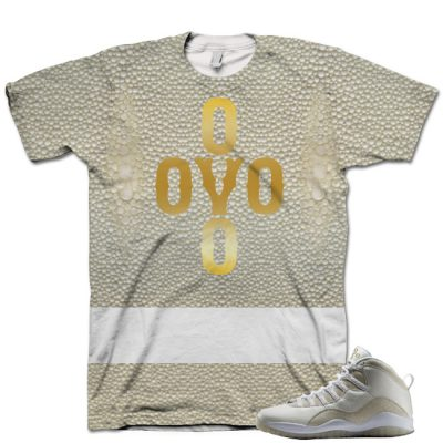 Nike Air Jordan 10 White OVO Shirt V7