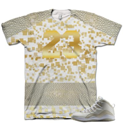 Nike Air Jordan 10 White OVO Shirt V8