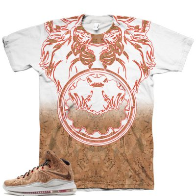 Beasting Lion Shirt for LeBron 10 EXT QS Cork V2