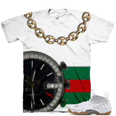 White Gucci Foamposite Shirt V4