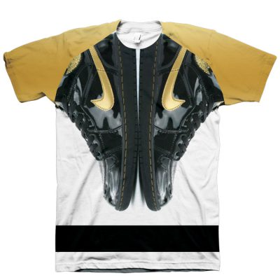 Jordan 1 Black Gold Shirt by GourmetKickz