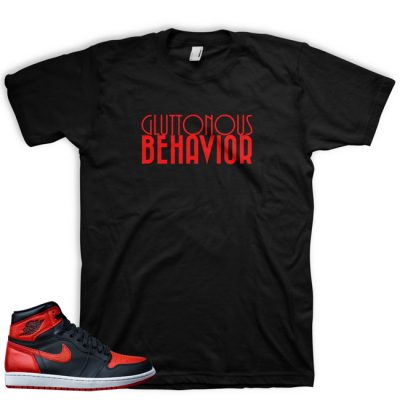 Jordan 1 Retro OG Banned Shirt | Gluttonous Behavior