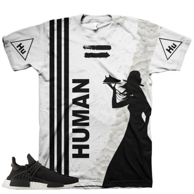 Pharrell Human Race Adidas NMD Custom T-Shirt by Chef Hanzo | Black V2
