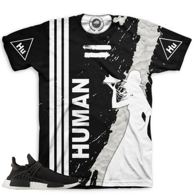 Pharrell Human Race Adidas NMD Custom T-Shirt by Chef Hanzo | Black V1