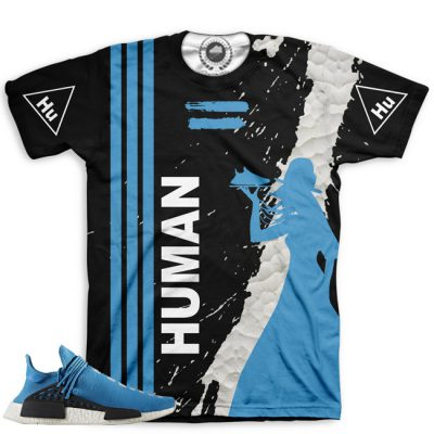 Pharrell Human Race Adidas NMD Custom T-Shirt by Chef Hanzo | Sharp Blue V3