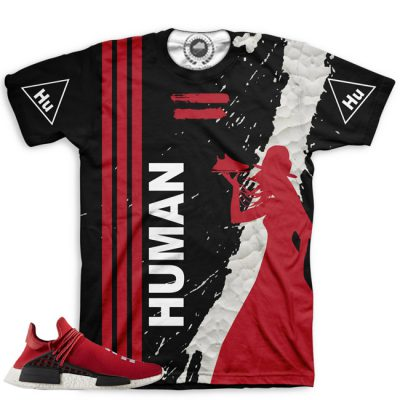 Pharrell Human Race Adidas NMD Custom T-Shirt by Chef Hanzo | Scarlet V3