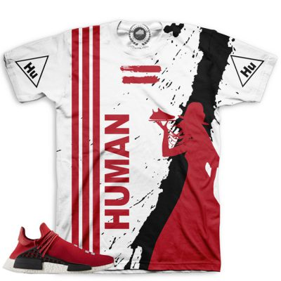 Pharrell Human Race Adidas NMD Custom T-Shirt by Chef Hanzo | Scarlet V1