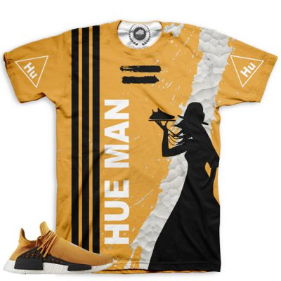 Pharrell Human Race Adidas NMD Custom T-Shirt by Chef Hanzo | Tangerine V2
