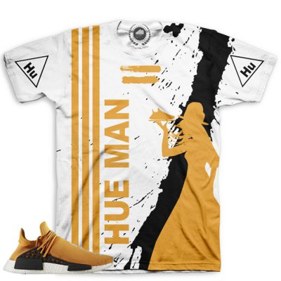 Pharrell Human Race Adidas NMD Custom T-Shirt by Chef Hanzo | Tangerine V1