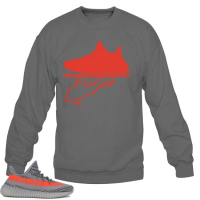 Yeezy Boost 350 V2 Beluga / Solar Red Sweatshirt | Now Serving