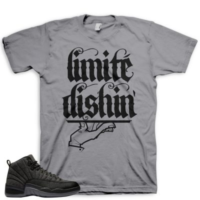 Jordan 12 Wool Sneaker Match Shirt | Limité Dishin' Grey